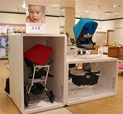 Bespoke Plastic Fabrication For Retail Display - Orbit Baby